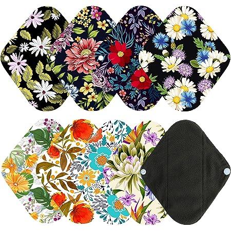 Sanitary Napkin Menstrual RTS 8 Cotton Daily Liner Mama Cloth AMP Reusable Liner Maxi Cloth Pad Jelly Fish Sea Menses,Menstruation
