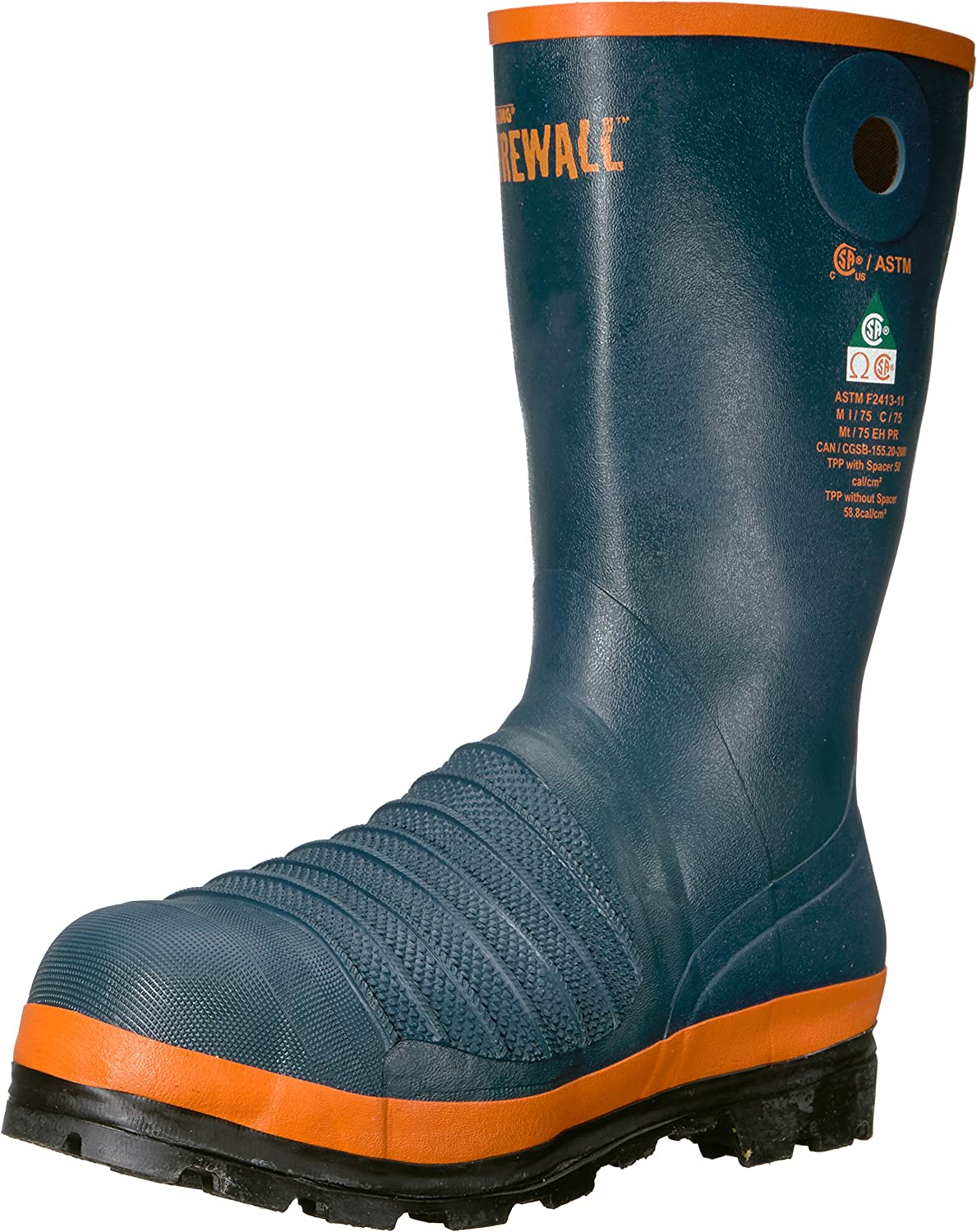 Viking herr FirewallTM Rigger Boot, Steel Toe and and and Plate Fire and Safety Boot  topp varumärke