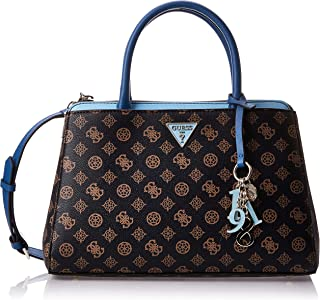 Guess Womens Satchels Bag, Brown/Blue - SP729106