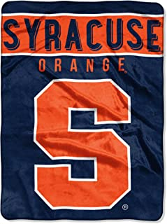 50 x 60 The Northwest Company Officially Licensed NCAA Syracuse Orange Label Plush Raschel Throw Blanket Multi Color