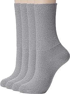 [癒足] (癒足) 日本製4足セット 婦人超らくらく綿混クルー 48711-990 レディース