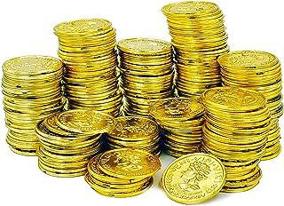 The Dreidel Company St. Patrick`s Plastic Gold Coins Novelty Party Favors, 144 Gold Coins Bulk (Single)