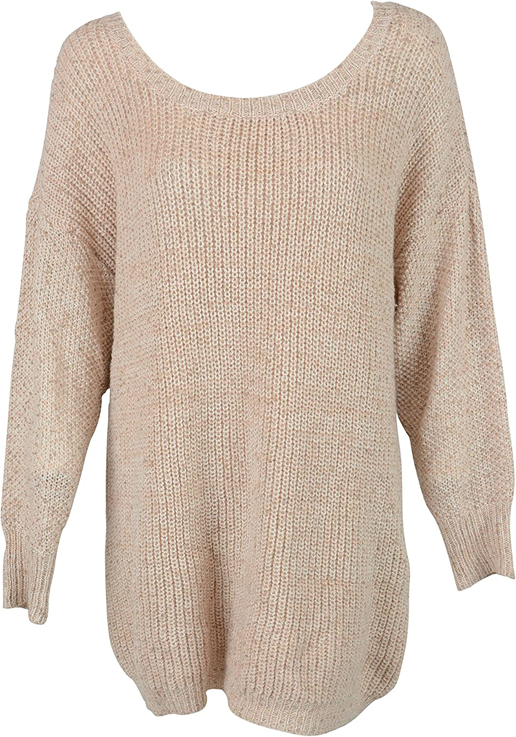 Bar III Womens Normandy 1 Textured Scoop LS Sweater