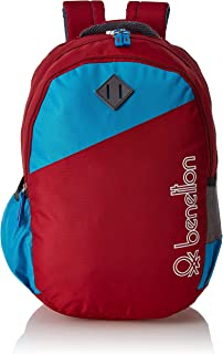 United Colors of Benetton 34 Ltrs Red School Backpack (0IP6SCHBPRS7I)