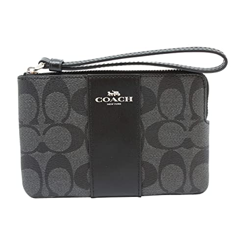 Coach Crossgrain Leather Corner Zip Wristlet Wallet