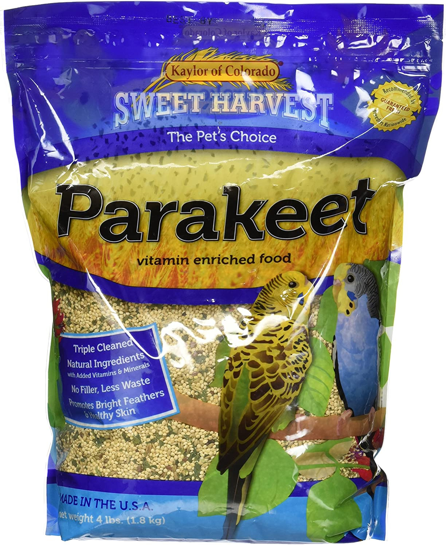 Sweet Harvest Parakeet Bird Food 4 lbs Japan Maker New Tampa Mall Seed Mix for Parak Bag -