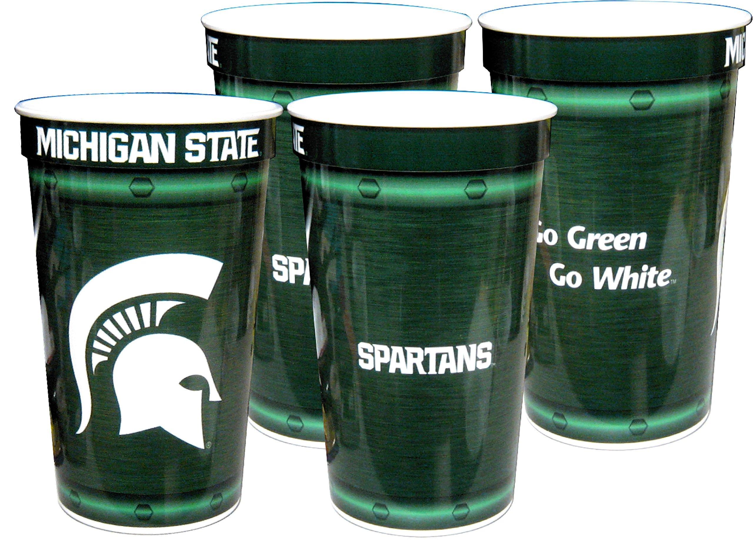 Westrick Michigan State Spartans 22 oz Souvenir Graduation Cups 4//pkg.