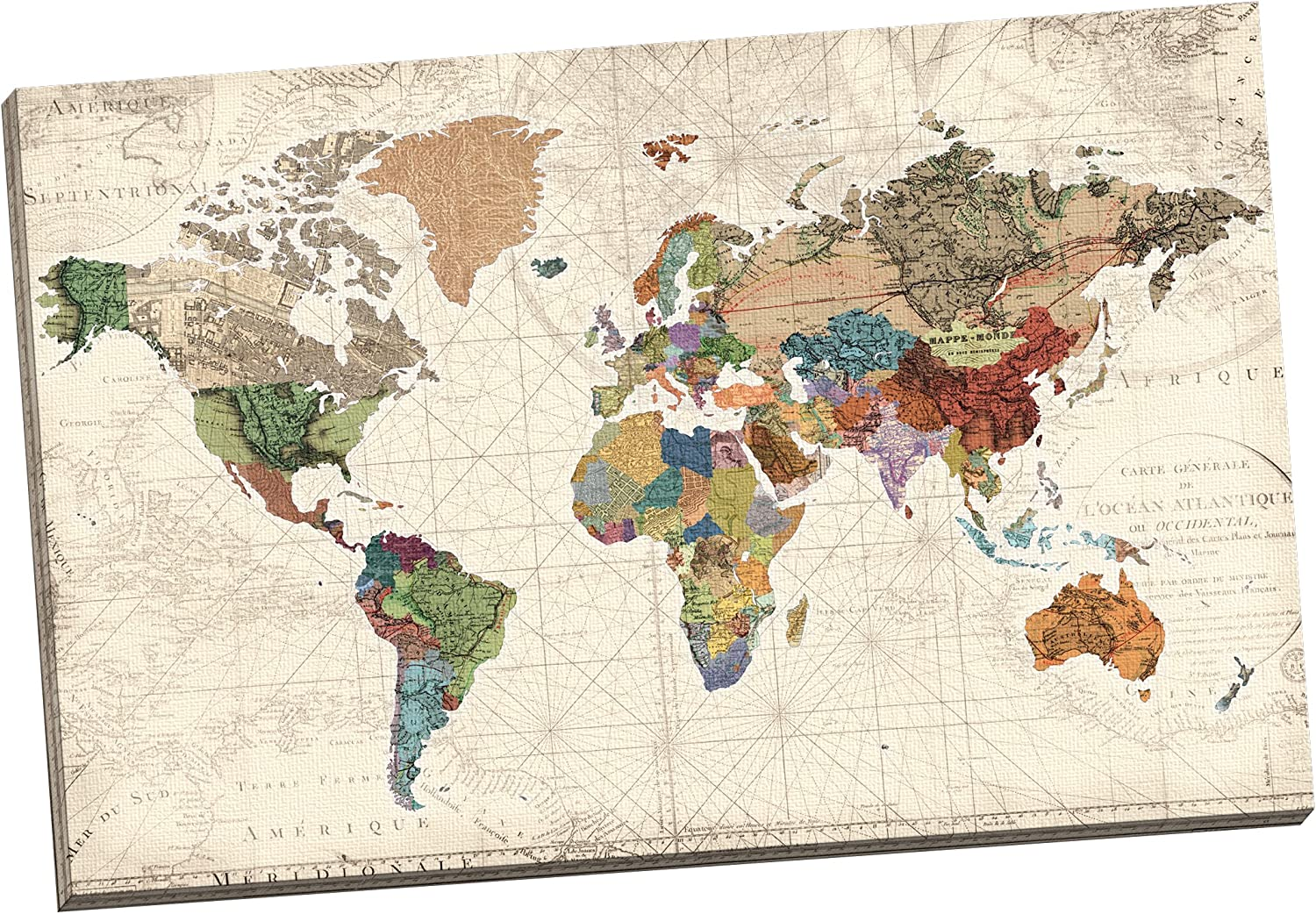 Portfolio Canvas Decor 'World Map of Maps' by Studio Voltaire Wrapped and Stretched Canvas Wall Art, 24 x 36