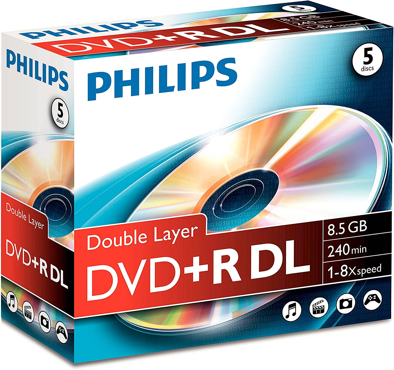 Philips Dvd R Doublelayer 8 5gb 8x Rohlinge 5er Pack Computer Zubehör