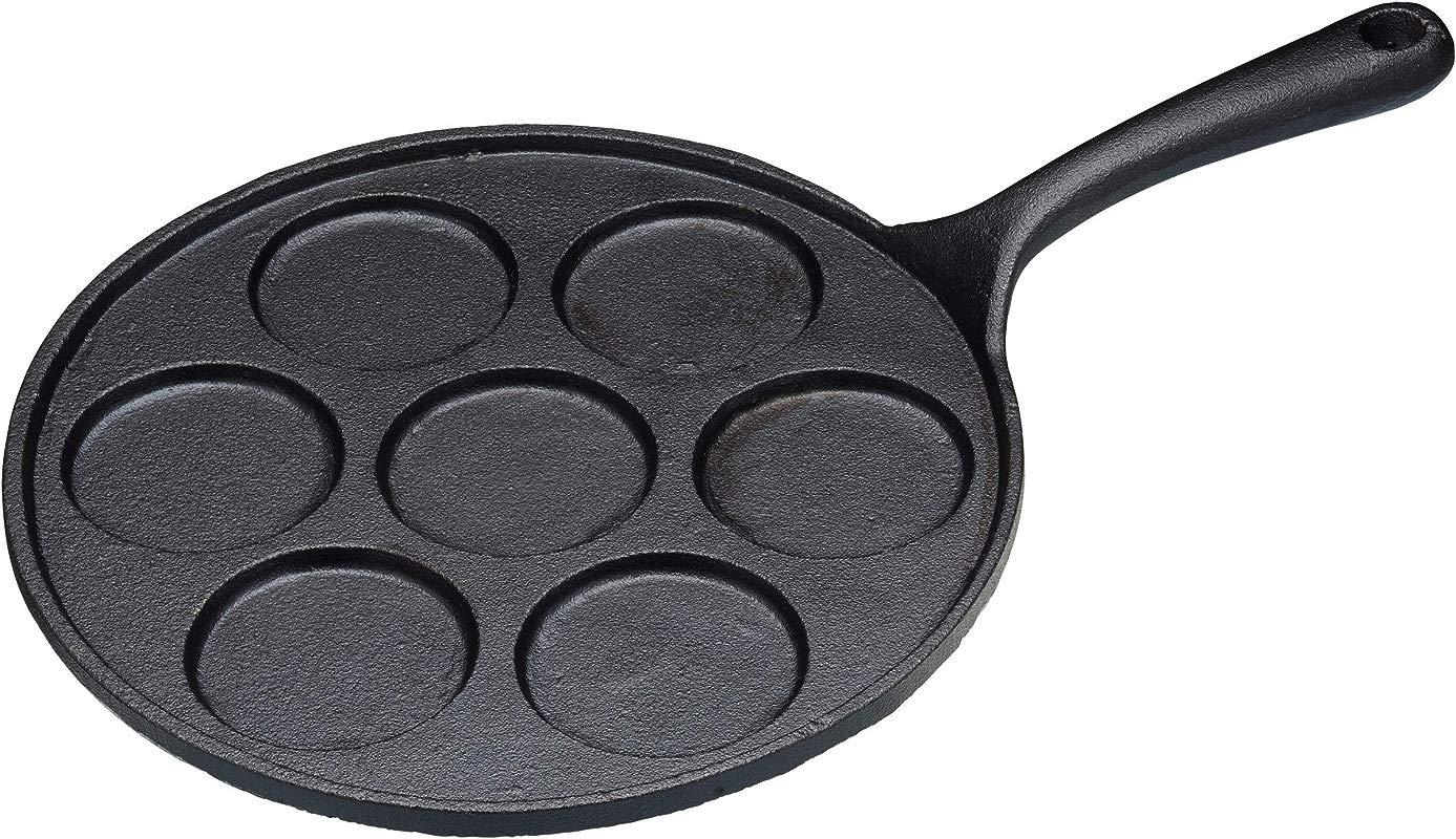 Kitchen Craft Cast Iron 7 Hole Blinis Pan