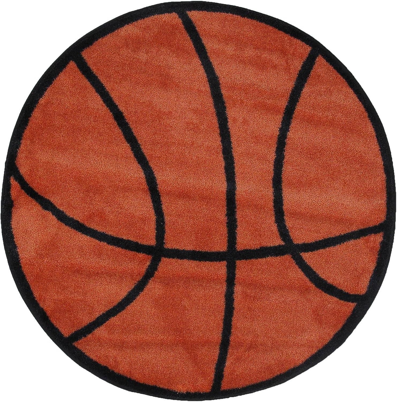 Fun Rugs FTS-4 39Rd Fun Time Shape Basketball Rug