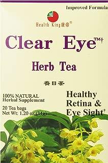 Health King Clear Eye Herb Tea, Teabags, 20 Count Box