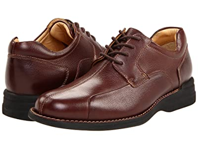 Johnston & Murphy Shuler Causal Dress Bike Toe Oxford (Dark Brown) Men