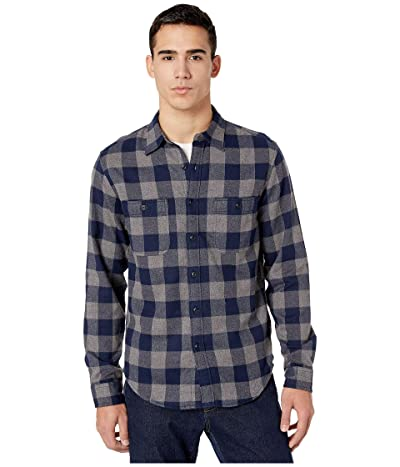 J.Crew Slim Midweight Flannel Shirt in Buffalo Check (Buffalo Check Grey/Navy) Men