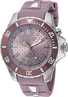 KYBOE! Power Stainless Steel Quartz Watch with Silicone Strap, Purple, 22 (Model: SC.48-007.15