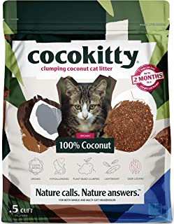 Coconut Cat Litter - Flushable Hypoallergenic Lightweight Kitty Litter - Odor Free, Natural, Biodegradable - CocoKitty