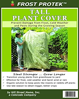 Frost Protek Tall Plant Cover -6' Tall -Drawstring Closure -Garden Fabric for Protection and Insulation