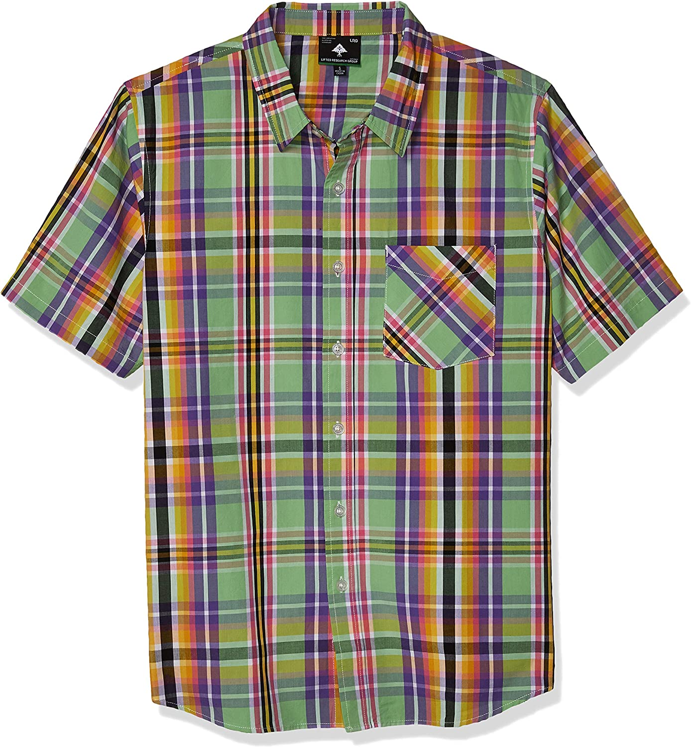 LRG Lifted Research Group service Ranking TOP14 Men's Button Shirt Plaid Down