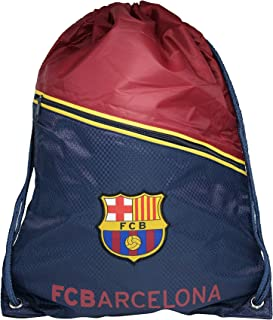 RHINOXGROUP Fc Barcelona Authentic Official Licensed Soccer Drawstring Cinch Sack Bag 003