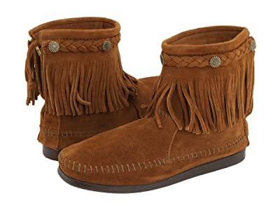 Minnetonka Hi-Top Back Zip Boot (Brown Suede) Women