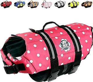 Paws Aboard Doggy Life Jacket Large Pink Polka Dot
