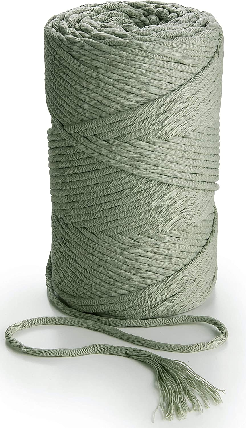 MB Cordas Sage Green Macrame Gifts Rope 153 Soft Twisted 3mm Cotton Yd Max 49% OFF