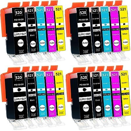 D C 20x Druckerpatronen Geeignet Für Canon Pgi 520 Cli 521 Pixma Ip3600 Series Ip4600 Series Ip4600x Ip4700 Mp540 Mp550 Mp560 Mp620 Series Mp630 Mp640 Series Mp640r Mp980 Mp990 Mx860 Mx870 Series Bürobedarf