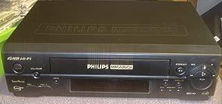 PHILIPS MAGNAVOX 4 HEAD Hi-Fi SmartPicture VCR Plus+ VHS HQ - WITHOUT REMOTE