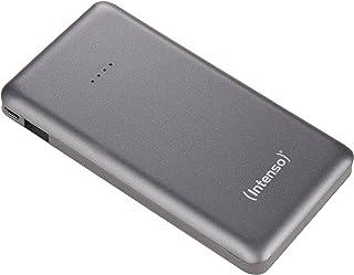 Intenso Slim Powerbank extern laddare, 10 000 mAh, mikro-USB-kontakt, 10000mAh - MicroUSB, GRÅ