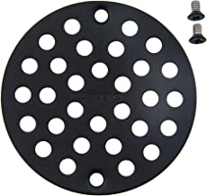 Moen 102763WR 4-Inch Screw-In Shower Strainer Drain Cover, Wrought Iron