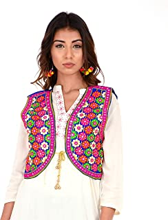 """Craft Trade Embroidered Kutchi Jacket for Women Cotton Traditional Choli Koti Girls Indian Wear (Bust Size - 36"""" to 38"""")"""