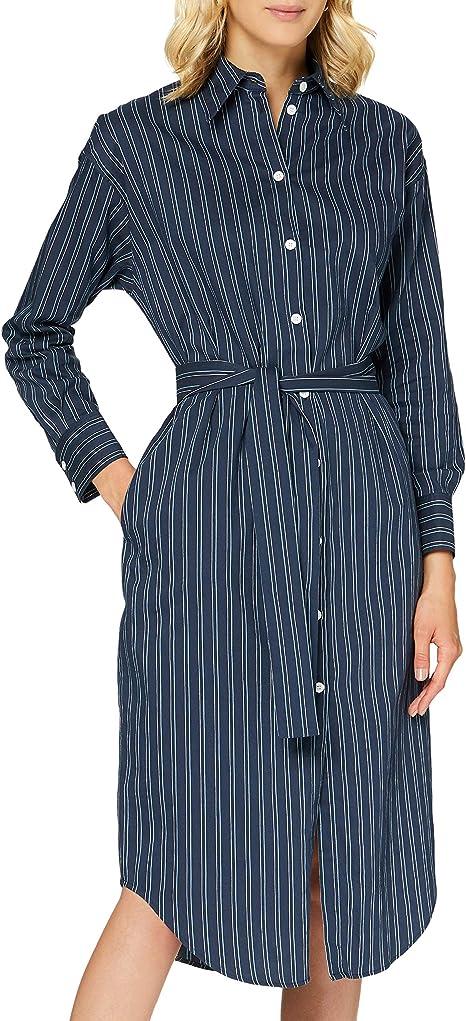 Seidensticker Damen Kleid Langarm Gestreift Multi Kleid Amazon De Bekleidung