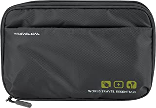 Travelon Travelon World Travel Essentials Tech Organizer, Graphite (Gray) - 43373-533