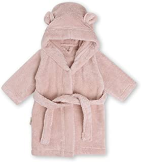 Natemia Organic Hooded Bathrobe for Babies and Toddlers – Ultra Soft and Absorbent Zero Twist Cotton Kids Robe