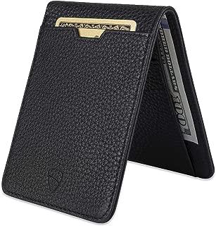 Vaultskin Manhattan Slim Bifold Wallet with RFID Protection for Cards and Cash (Matt Black)