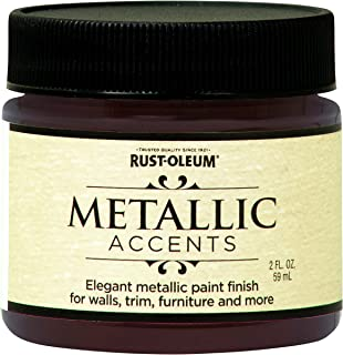 Rust-Oleum 255337 Metallic Accents Paint, 2 oz Trial Size, Black Garnet