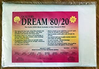 Quilter's Dream 80/20, White, Select Loft Batting - Throw Size 60