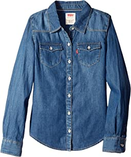 Levi's® Kids - The Western Long Sleeve Denim Top (Little Kids)