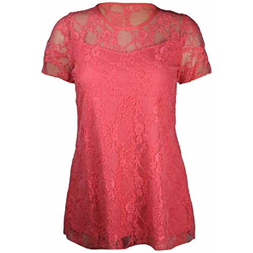 Brand new lace lined stretch Black top size 14-24 Red Lace Lined New