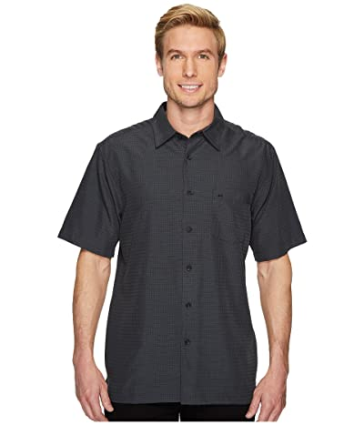 Quiksilver Waterman Centinela 4 Short Sleeve Shirt (Black) Men