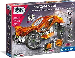 Clementoni- Laboratorio di Meccanica Ingegneria delle Macchine Set di Gioco, Multicolore, 13940