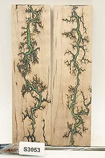 Fractal Burned Wood Knife Scales - Handle Material - Knife Making - Payne Bros