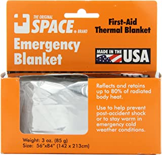 Grabber Outdoors The Original Space Brand Emergency Survival Blanket, Silver, 3oz. 56