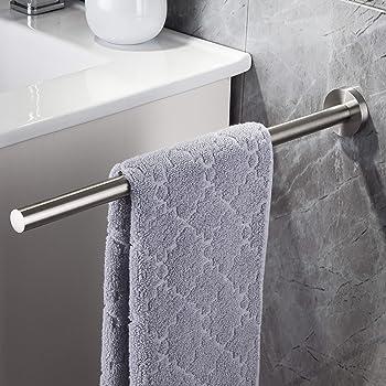 Klebemontage oder Schraubmontage Dailyart Handtuchhalter 40cm Handtuchhalter Bad Ohne Bohren Edelstahl Geb/ürstet Handtuchstange Wandmontage