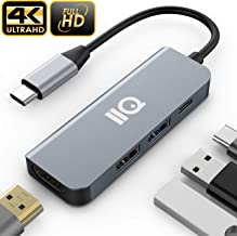 Updated 2019 Version USB C Hub, 4-in-1 USB C Adapter with 4K USB C to HDMI, USB 3.0 and 2.0 Ports, for MacBook Pro 2016/2017/2018, ChromeBook, XPS, and More