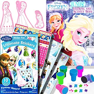 Disney Frozen Coloring Book Activity Set for Girls Kids Toddlers -- Bundle Includes Frozen Stickers and Cutie Mark Stampers (Disney Frozen Party Supplies)