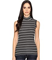 ATM Anthony Thomas Melillo - Engineered Stripe Sleeveless Mock Neck