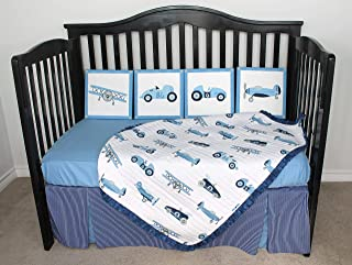 10 Piece Baby Bedding Crib Set Vintage Cars Planes One of a Kind