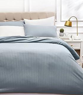 comprar comparacion AmazonBasics - Juego de ropa de cama con funda nórdica de microfibra y 2 fundas de almohada - 200 x 200 cm, gris scuro
