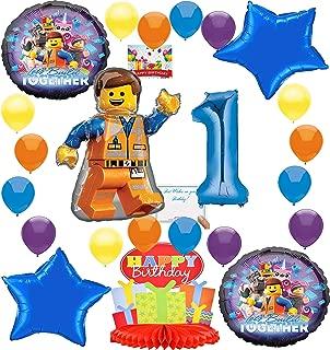 Lego Movie 2 Deluxe Balloon Decoration Bundle for (1st Birthday)